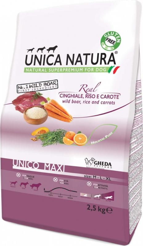 GHEDA Unica Natura Maxi au Sanglier pour Chien de moyenne et grande taille