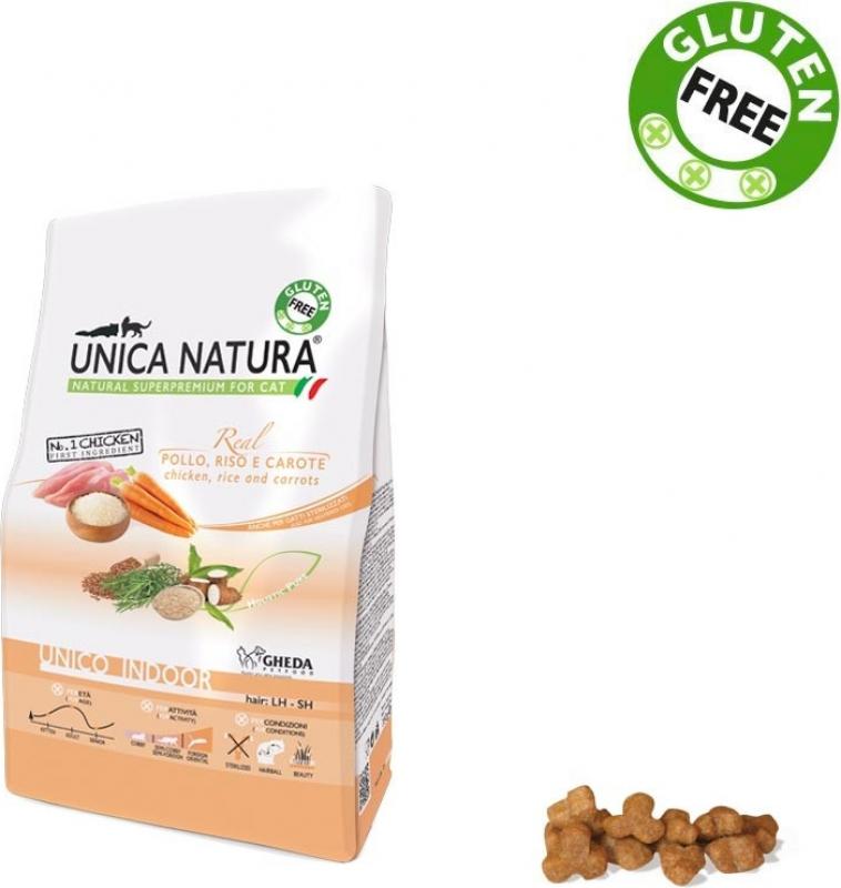 GHEDA Unica Natura Indoor Poulet & Riz pour Chat d'intérieur