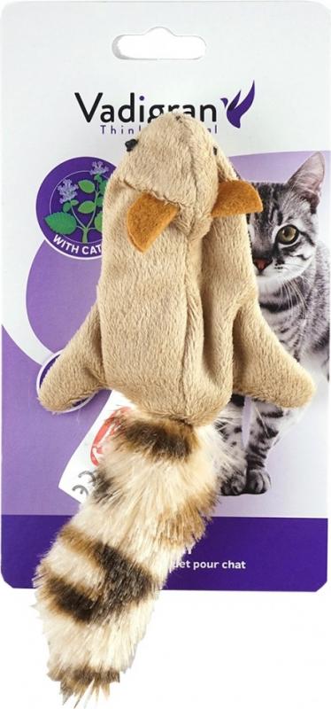 Vadigran Jouet chat Peluche écureuil volant 10,5cm