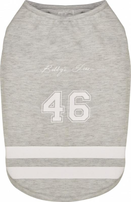 T-shirt pour chien Baseball Gris - idéal pour rafraîchir le chien