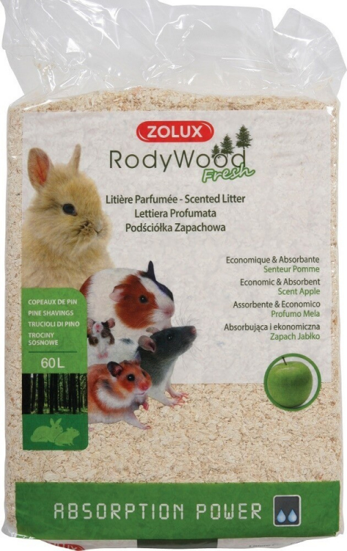 Litière copeaux RodyWood Fresh parfumés