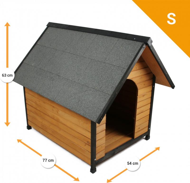 Niche en bois d'extérieur ZOLIA Black Cléo pour chiens et chats