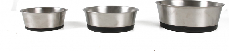 Gamelle en inox pour chiens Zolia Koopa avec protection antidérapante