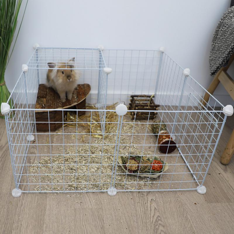 Parque modular Zolia Merry - Várias cores disponíveis - Conjunto completo para coelhos, roedores, cachorros, gatos