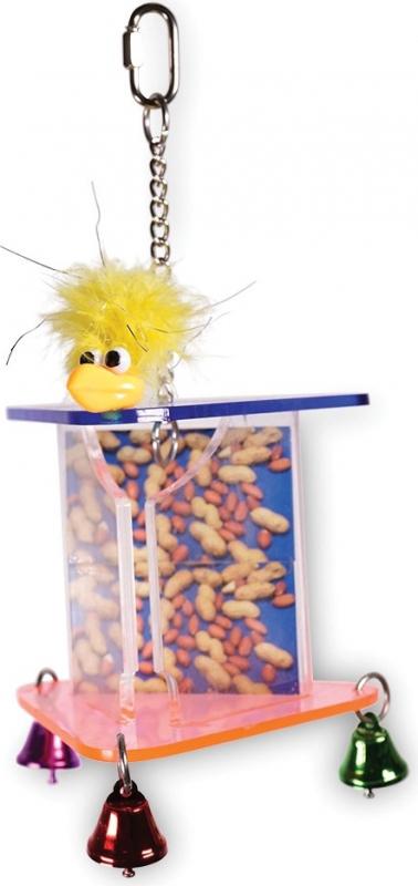 Vadigran Jouet Oiseau et distributeur de noix et arachides 2en1