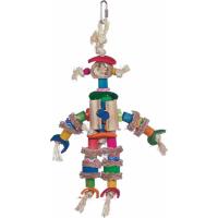 Vadigran Jouet oiseau Scarecrow multicolore 29cm