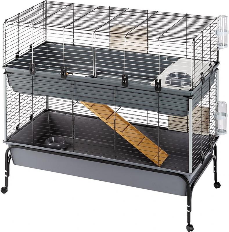 Cage pour lapin et cobaye Rabbit 120 Double avec Support