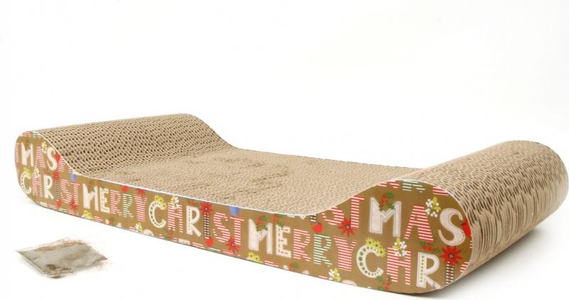 Griffoir en carton pour chat Merry Xmas Zolia Festive