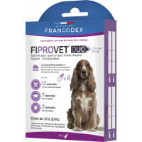 Francodex Fiprovet Duo Pipettes Spot-on pour chiens