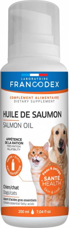 Francodex Spray Huile de saumon pour chiens et chats - 200ml