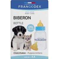 Francodex Biberon + 2 tétines pour chiots et chatons - 120ml