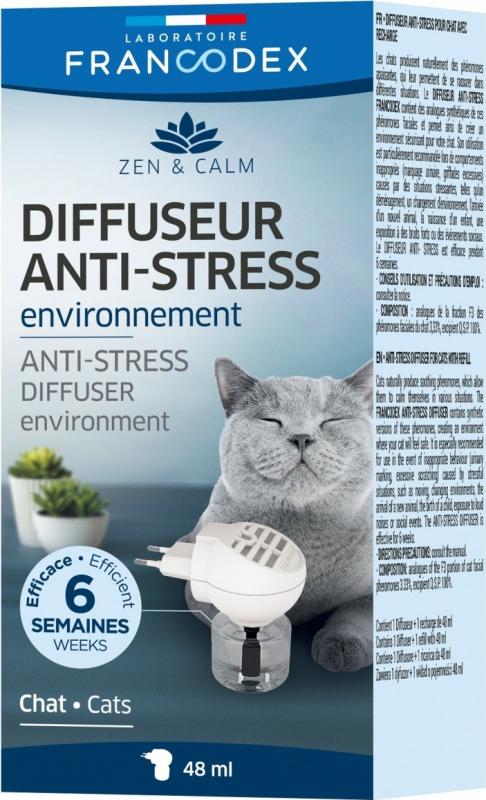 Francodex Diffuseur anti-stress + recharge chats - 48ml