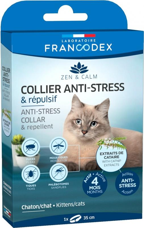 Francodex Collier anti-stress et répulsif pour chatons et chats