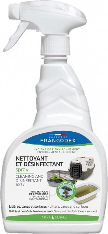 Francodex Spray de limpeza e desinfecção - 750ml