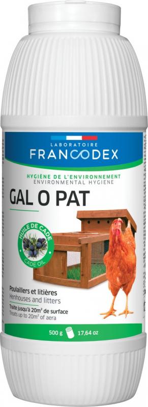 Francodex Gal O Pat para gallineros y arenas - 500g