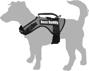 Arnés para perro Best buddy Uranus - Flamingo - Negro