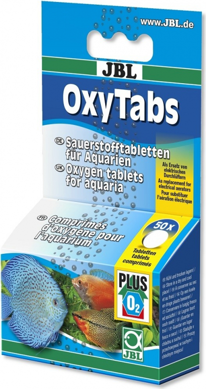 JBL OxyTabs comprimés d'oxygène pour l'aquarium ou le transport