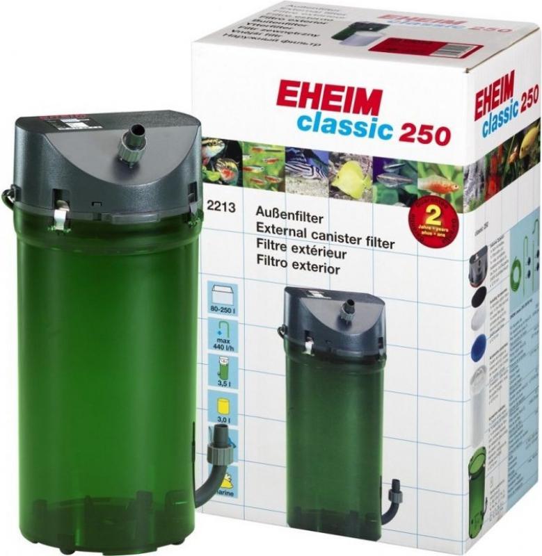 Filtre externe Eheim Classic 2213 avec mousses et robinets