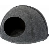 Abri douillet pour chat Trixie Evi en feutre ø 43 × 32 cm anthracite
