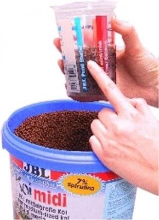 Pondcup dosificador de comida para peces de estanque for Comida para peces de estanque