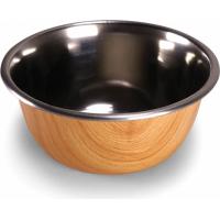 Gamelle pour chien Selecta Vadigran design bois et inox - Plusieurs tailles disponibles