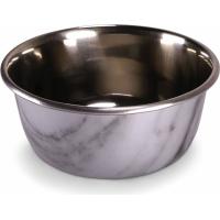 Gamelle pour chien Selecta Vadigran marbre et inox - Plusieurs tailles disponibles