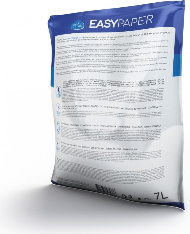 Litière papier recyclé ultra agglomérante et sans poussière Easypaper Quality Clean