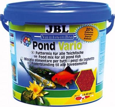 JBL Pond Vario Mélange flocons, crustacés et bâtonnets
