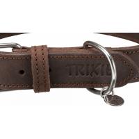 Rustic collier en cuir ciré et vieilli brun foncé - 5 tailles disponiibles