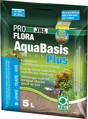 JBL AquaBasis Plus - Ready-to-use long-term nutrient substrate mixture for new aquariums