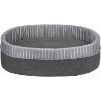 Cesta in tessuto Finley grigio/bianco, 6 taglie