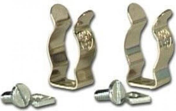 Lot de deux clips en métal pour tube fluorescent T5 pour réflecteur