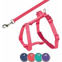 Harnais Premium Trixie pour chat avec laisse - Corail- 2 tailles disponibles