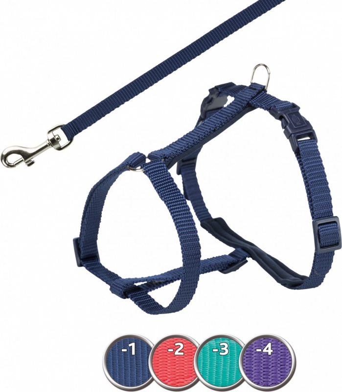 Harnais Premium Trixie pour chat avec laisse - Violet - 2 tailles disponibles