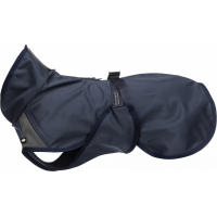 Trixie Manteau imperméable pour chien Aston Softshell Bleu/Gris foncé - Coupe large