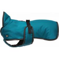 Trixie Manteau imperméable pour chien Bréval - Pétrole - Plusieurs tailles disponibles