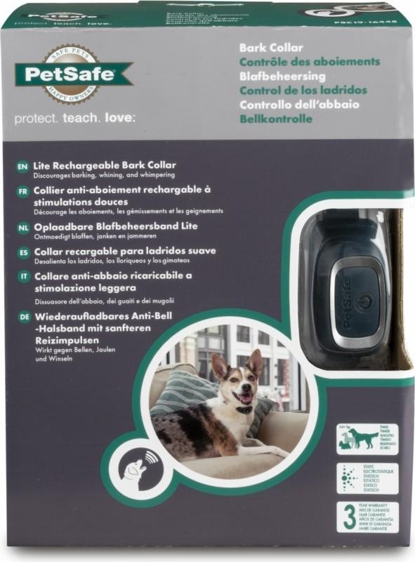 Collier anti aboiement rechargeable petits chiens Petsafe - Stimulations électrostatiques