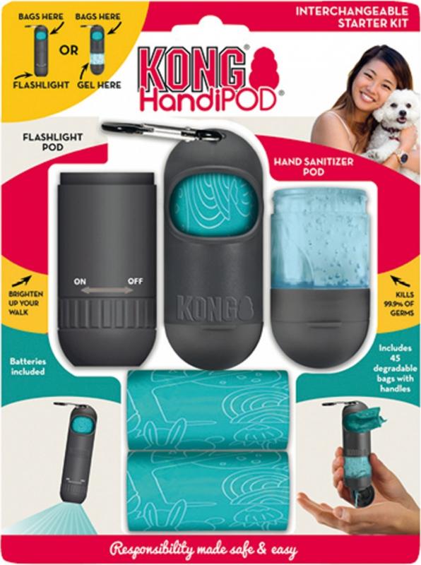 Kong HandiPod Starter kit interchangeable Sac à crottes pour chien