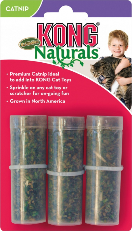 Kong Premium hierba para gato Norteamericana - tubos de recambio