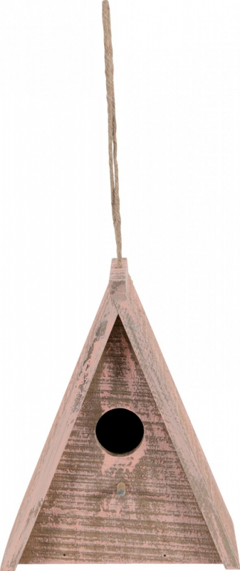 Zolux Nichoir extérieur en bois Caribou pour oiseaux de la nature - Triangulaire