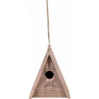 Zolux Caixa de nidificação exterior de madeira Caribou para aves naturais - - Triangular