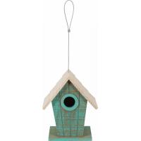 Zolux Nichoir extérieur en bois Caribou pour oiseaux de la nature - Toit pentu