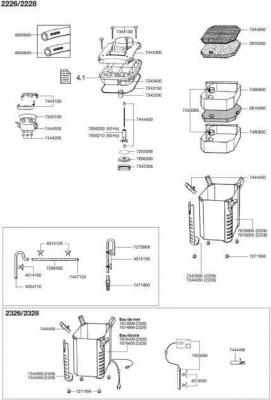 Pièces de rechange pour filtre externe et thermofiltre Eheim Professionel 2226, 2228, 2326, 2328
