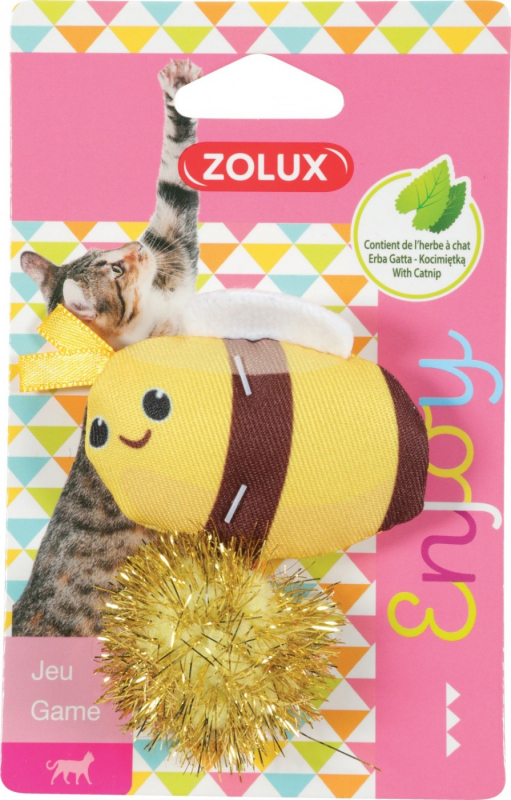 Zolux Jouet chat Lovely avec herbe à chat - Abeille