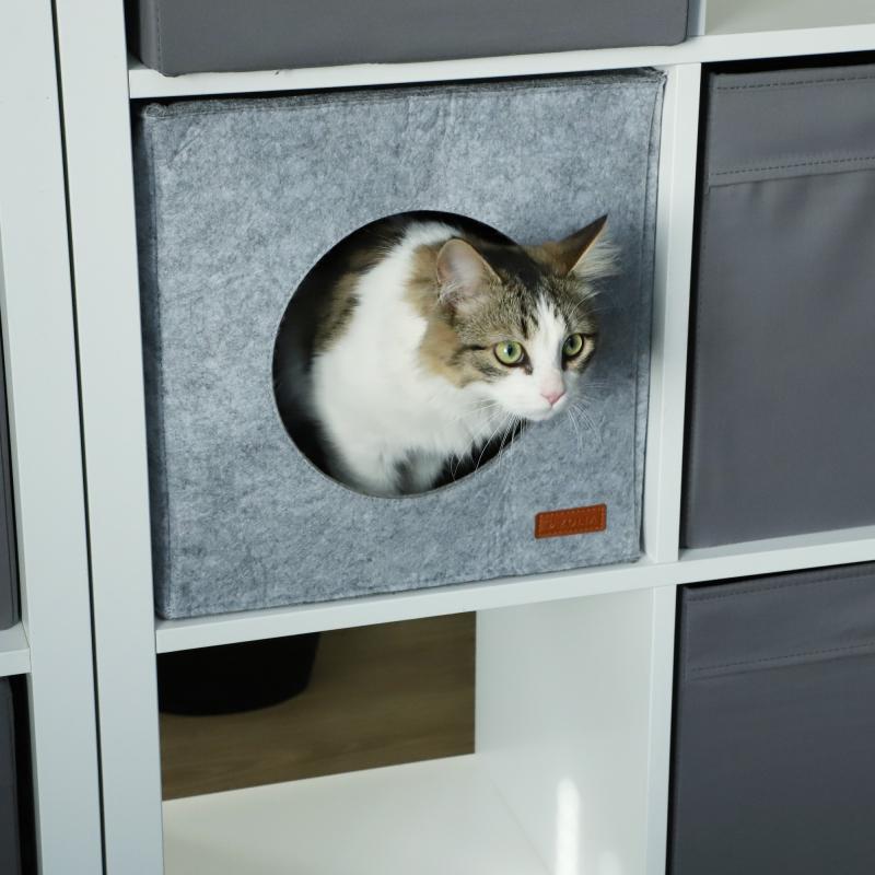 Niche cube Felt pour chat Zolia