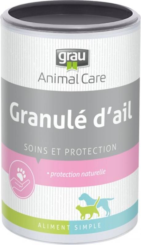 GRAU Ail en poudre contre tiques et puces pour chien et chat