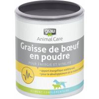 GRAU Polvere naturale di grasso di manzo in polvere, fornitura di energia per cani e gatti