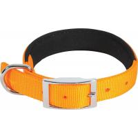 Collier nylon confort orange - plusieurs tailles