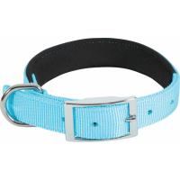 Collier nylon confort turquoise - plusieurs tailles