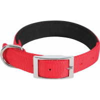 Collier nylon confort rouge - plusieurs tailles